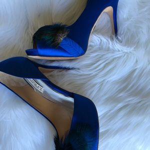 Badgley Mischka Shoes - Bartley Mischka Piper Feather Pumps